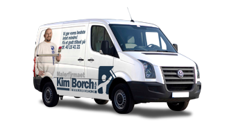 Bilreklame for Malermester Kim Borch