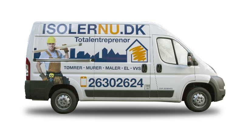 Bilreklame for ISOLERNU.DK